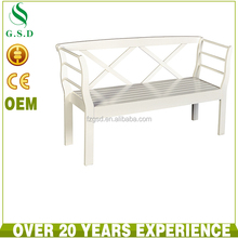 wholesale high quality classic white cheap long teak solid wooden bench
