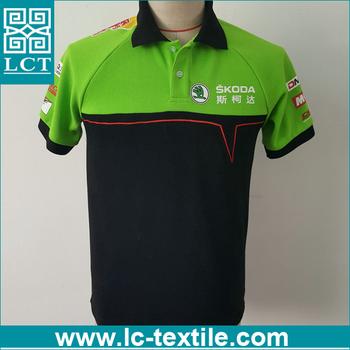 Custom Heat Transfer Print Two Tone Sports Polo Shirt Lctn1793 Buy