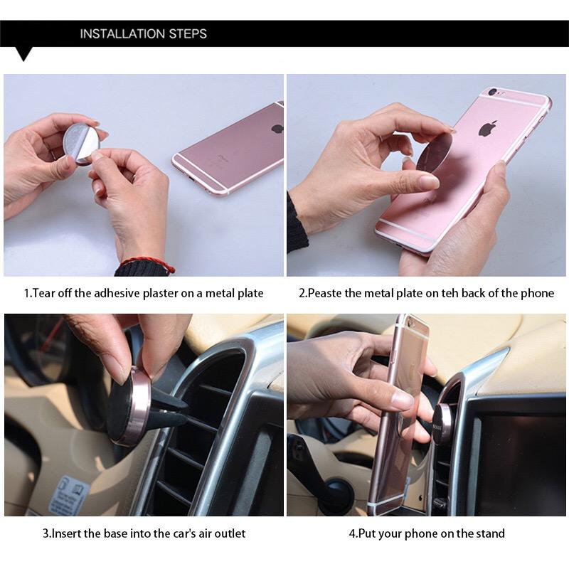 2018 trending Magnetic Car Phone Holder , Air Vent Car Mount Mobile Phone Holder Stand Grip Magnetic Car Phone Holder