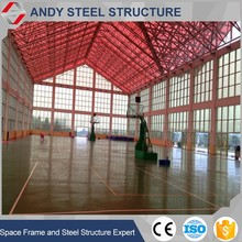 prefabricated steel roof frame badminton court construction
