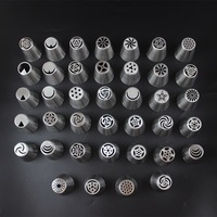 Hot Sale Russian Piping Tips cake decorating nozzle Icing Nozzles Bakes Flower Nozzles Cake Decorating Tips Russian Icing Tips