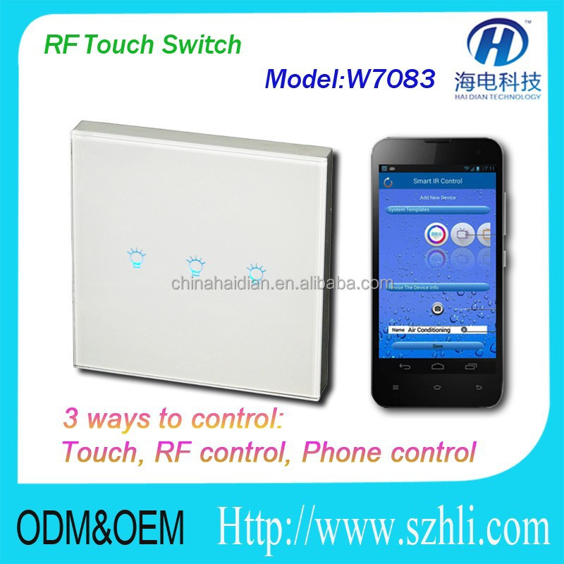 new wireless Smart Control Series Home Automation RF , RF315 & 433 MHZ Wireless RF Touch Switch/Wireless touch Wall Switch