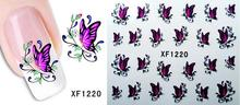 1sheets NEW Arrival Water Decals Nail Art Sexy  Feather Nail Art Stickers Decals Decorations Polish Tools XF1221