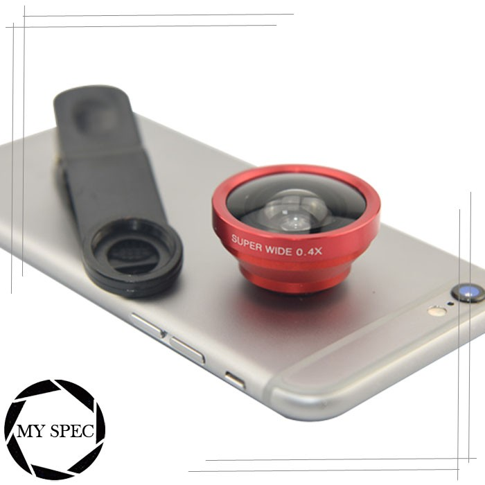 Universal clip wide angle mobile phone camera lens for smartphone