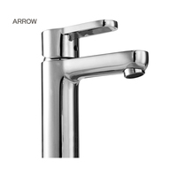 ARROW brand China Manufacture chrome plated single handle one hole basin sink bathroom water taps for family