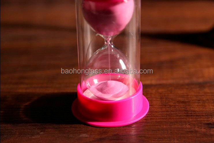 Plastic sand timer hourglass Cheap sale for kids