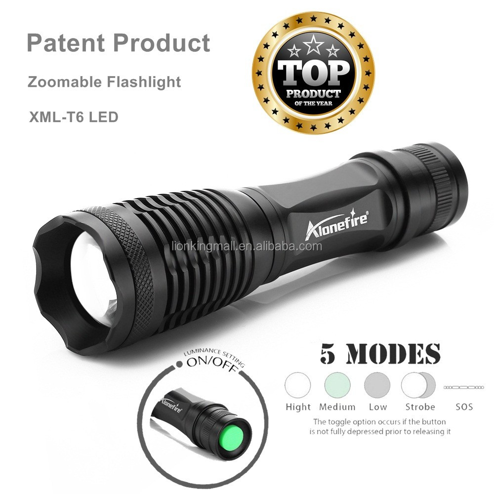 AloneFire E007 Lanterna XML-T6 3800LM Tactical Flashlight Torch Zoom Linterna LED Flashlight LED Cycling Bike Bicycle Head Light