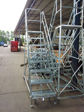 safe heavy duty foldable/telescopic/insulation steel warehouse rolling ladder/stairs for sale China