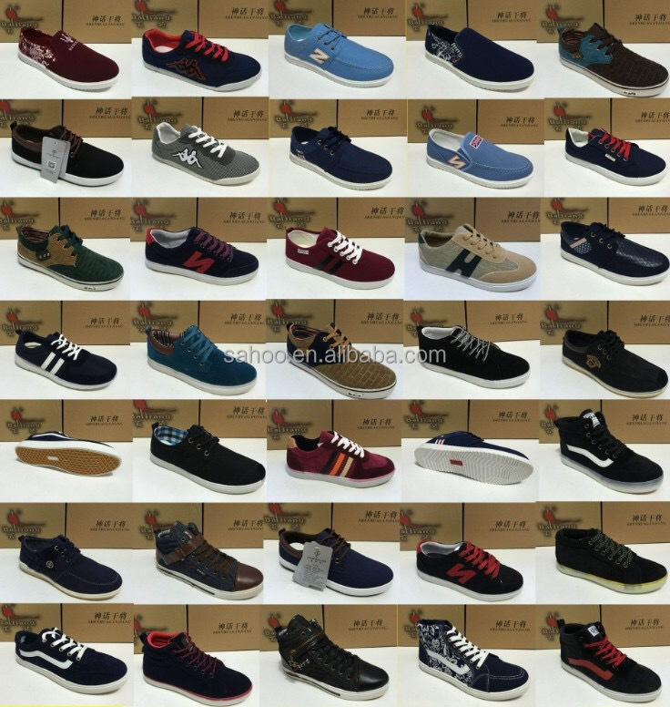 Factory Stock high quality casual shoes Lace up Men stock lot shoe