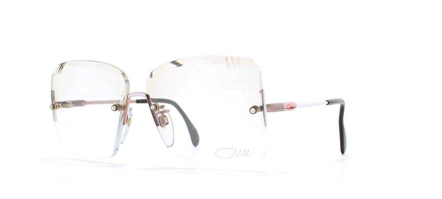 e6cf08bd94 Get Quotations · Cazal 220 307 White Authentic Women Vintage Eyeglasses  Frame