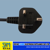 UK BS Standard 3 pin plug uk power supply cord