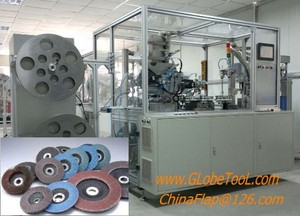 Semi-automatic flap disc machine supplier, Semi-automatic flap disc making machine