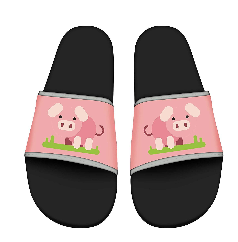 ZWJ Sandals for Kid Beach Sandals Anti-Slip Bath Slippers Shower Shoes Indoor Floor Slipper Piggy Pattern