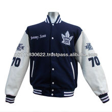 felt patches varsity lettermna jackets high quality real leather sleeves