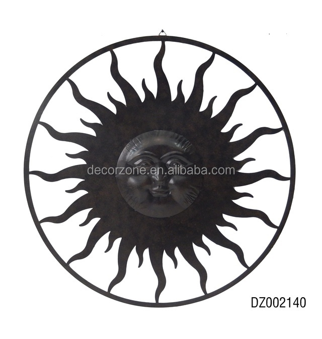 antique round wrought iron wall decoration
