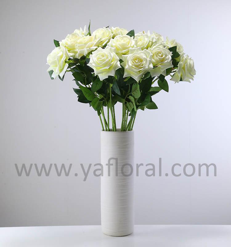 26 Perancis Bunga Mawar Sutra Merangkai Buatan Naik Palsu Rose Untuk Pernikahan Meja Ruang Tamu Dekorasi Rumah