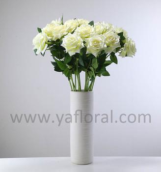 26 French Flower Rose Silk Arrangement Artificial Fake For Wedding