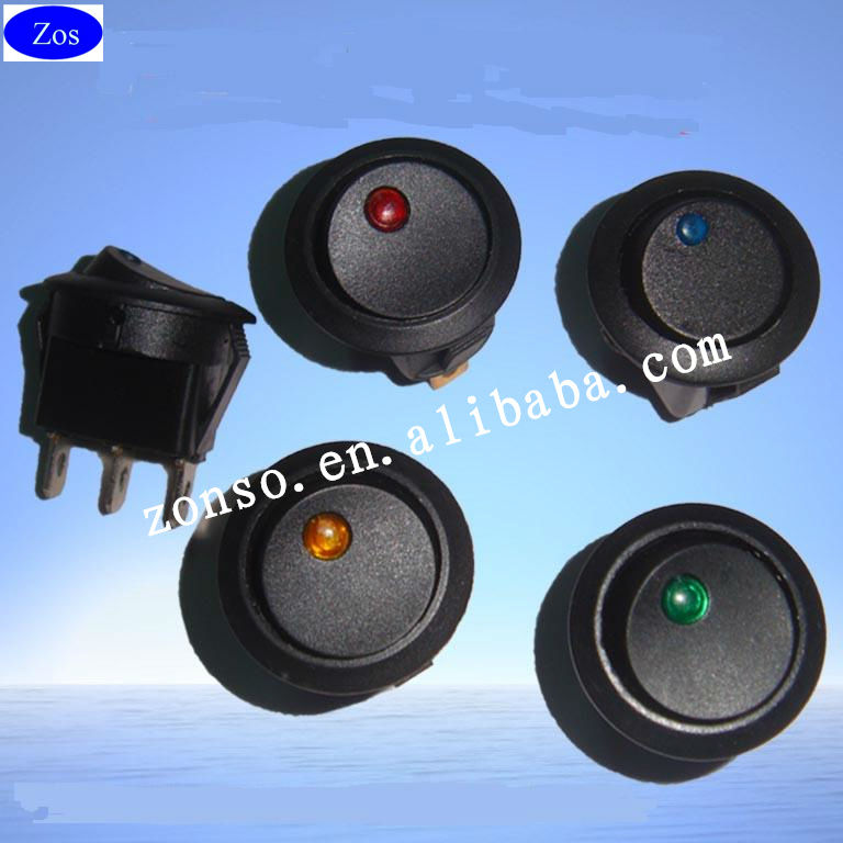 12V ON/OFF Dot led Round rocker switch