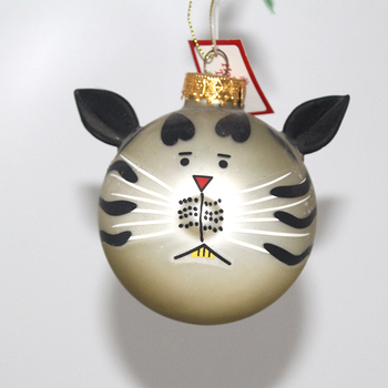 Wholesale Christmas Hanging Ornaments Rabbit Shape 8cm Glass Ball