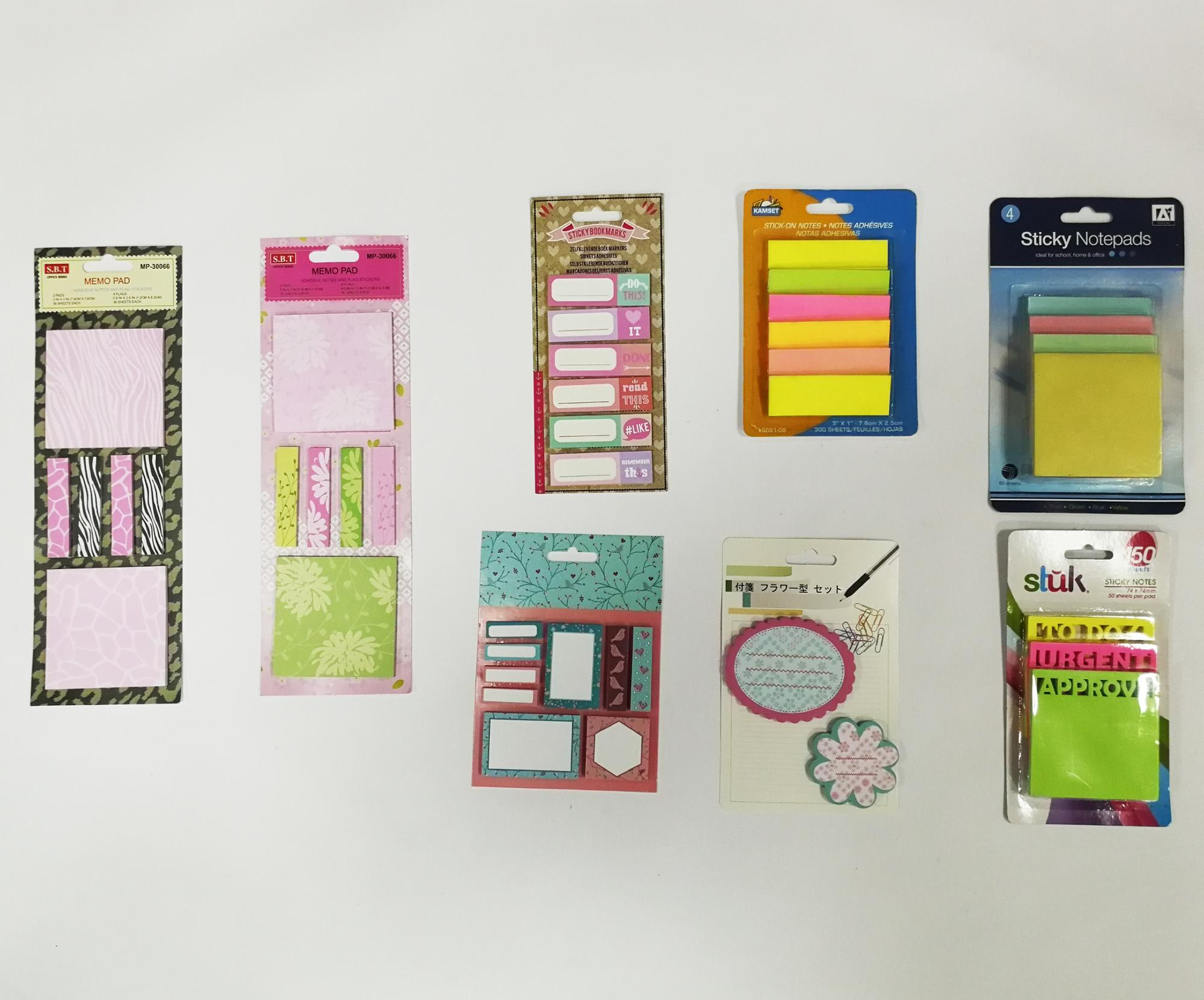 beautiful custom printed fancy logo sticky notes/note pad/memo pad