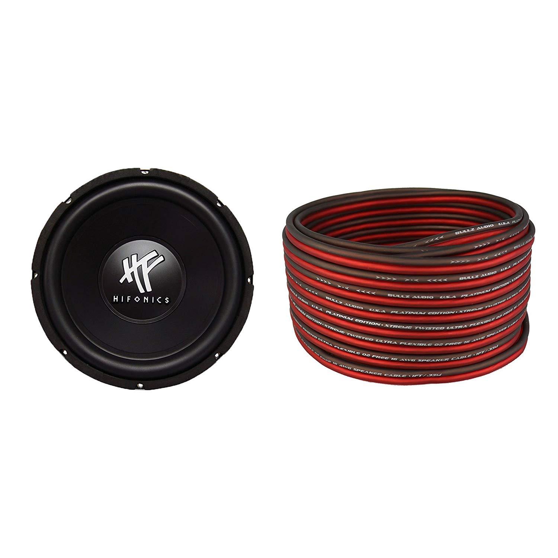 Cheap Car Audio Best Subwoofer Find Deals Bullz 8 Gauge Amplifier Amp Installation Power Wiring Kit Get Quotations Hifonics Hfx12d4 12 Inch 800w 16 100 Foot