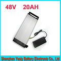 48V 1000W black housing rear rack 48v 20AH electric bike battery lithium battery ebike luggage battery