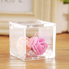 2018 New desihn Wholesale Clear Acrylic Plastic Mini Square Package Candy Box