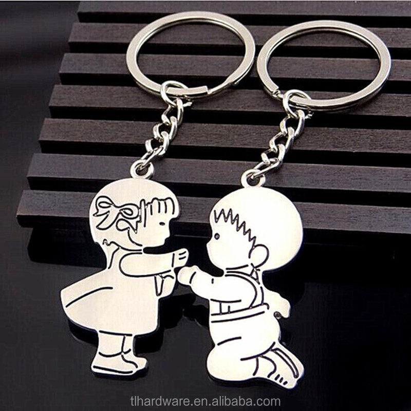 Fashion Lovers' Key Chain Ring Holder Romantic Couples Keychain