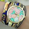 2016 Product New may design lady watch,colorful leather bands wind fashion bracelet watch(PR726)