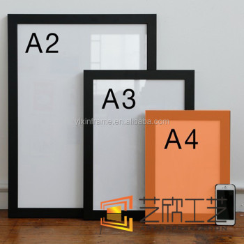 Cheap Wall Picture Frames Black A4 Certificate Frames - Buy Black A4 ...