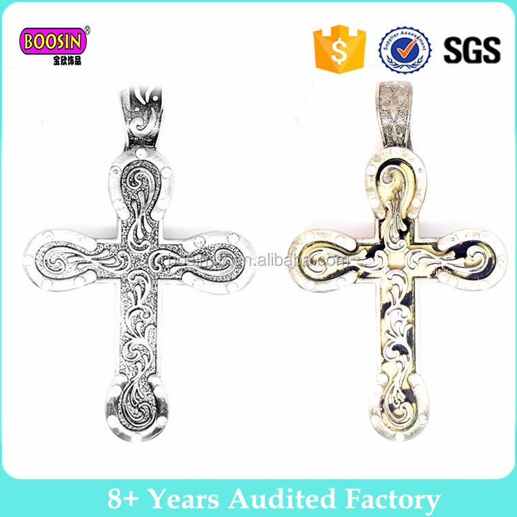 Boosin vintage design well selling silver pendant jewelry wholesale cross charm