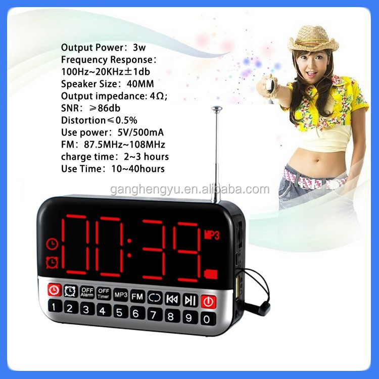 Exquisite led digital alarm clock dab radio