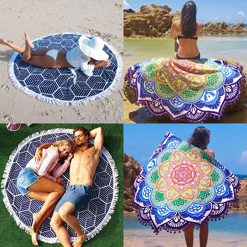 2016 Round Indian Mandala Tapestry Hippie Boho Printed Wall Hanging Tapestries Beach Throw Towel Yoga Mat DIY Home Decor 150cm