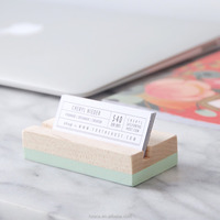 Solid Maple Wood Business Card Holder | Choose your color | Hand Painted | Desk Accessory | Office Supplies