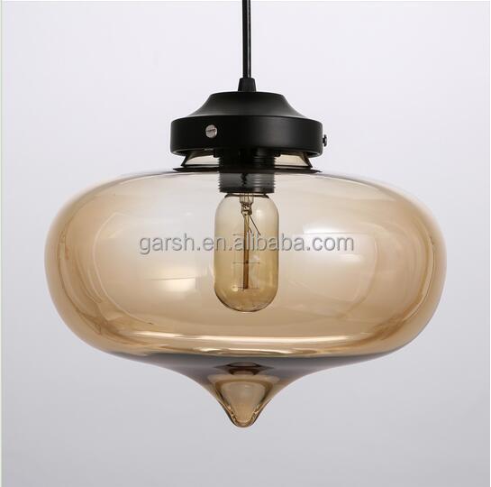 Vintage Light Glass Concrete Edison Pendant Light