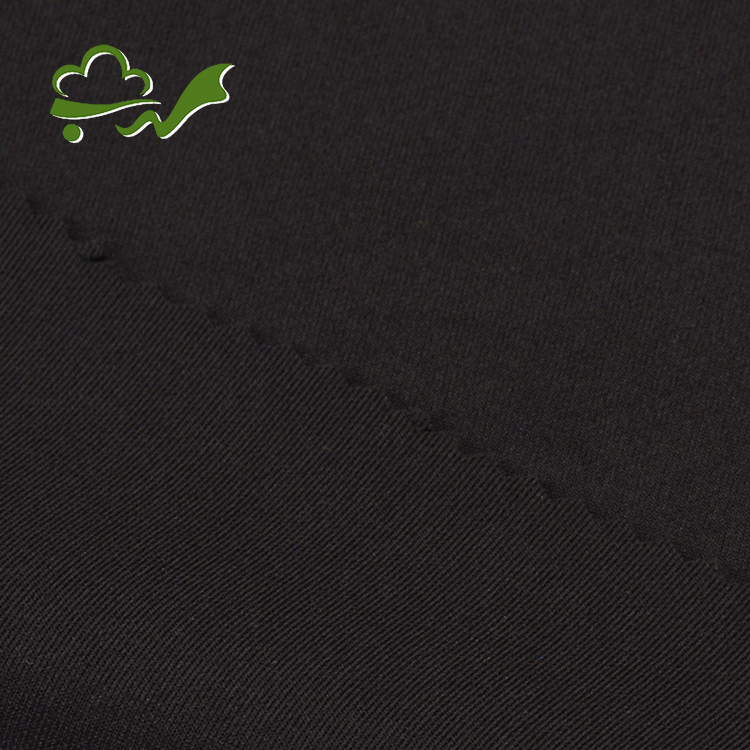 Good price custom made black double knit polyester spandex fabric stock lot