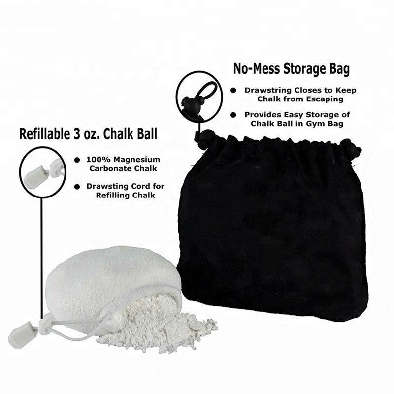Magnesium Carbonate Chalk Ball Wholesale for Weightlifting Climbing Bowling