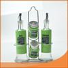stainless steel glass cruet bottle vinegar oil bottles and spice jar sets