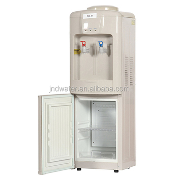 hot and cold water cooler with mini fridge buy water. Black Bedroom Furniture Sets. Home Design Ideas