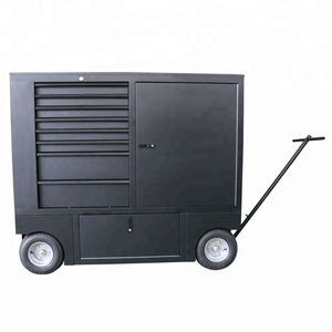 "30"" Multifunctional Hone Finished Matted Black Color Pit Wagons Tool Box for sale"