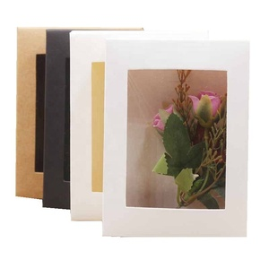 Display custom Logo flower carton paper shipping boxes with transparent window