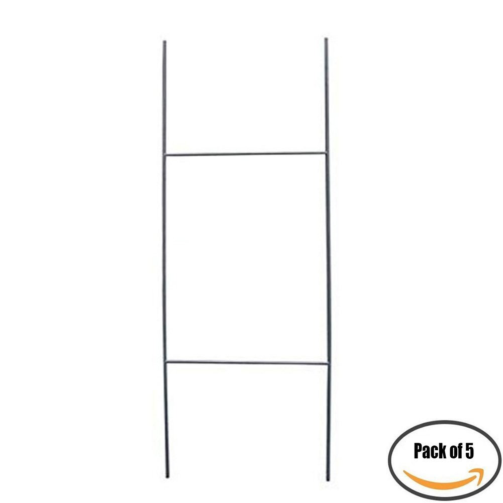 """MTB H Frame Wire Stake 30""""x10"""" (Pkg of 5) 9ga wire -Yard Sign Stakes for Real Estate,Wedding,Business,Political Campaign or Commercial Activities (Also Sold in Pack of 10/25/50/100)"""