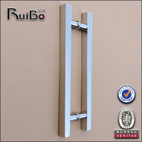 high quality stainless steel sliding glass doors handle tempered glass door handle