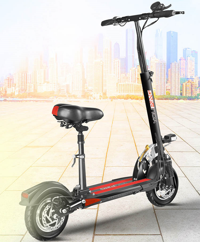 Foldable 2 wheel 10inch 18650 lithium battery 500w dual suspension electric mobility scooter citycoco