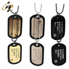 Shuanghua supply custom American military metal dog tag with chain