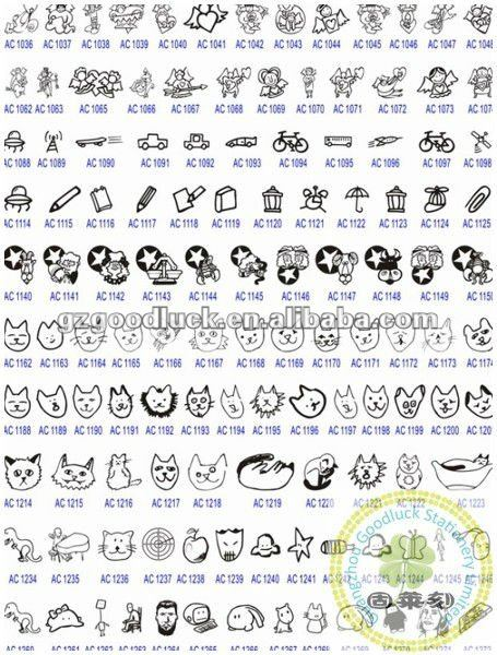 Custom animal logo pre inked making clear soap stamps