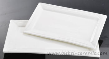 9 inch Pure White Ceramic Porcelain Salad/Dessert/Dinner Service Rectangular Plates Dishes Hotel & 9 Inch Pure White Ceramic Porcelain Salad/dessert/dinner Service ...