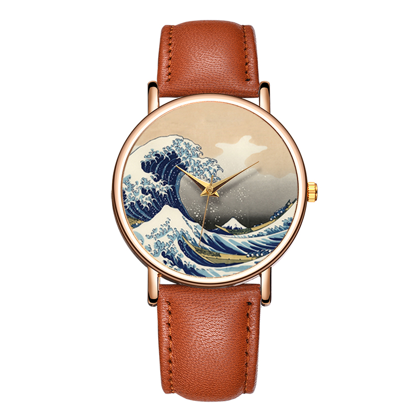 Custom Your Own Design Watches Landscape Cheap Watches Bulk Sale Price Made in China OEM Mens Watches