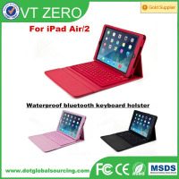 Wireless Bluetooth Leather Keyboard Case For iPad Air 2