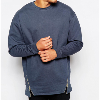 Custom Plain Crewneck Zipper Oversized Sweatshirts Wholesale - Buy ... 83e841573cc5